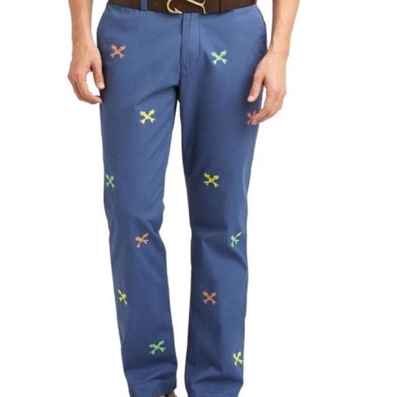 4c65357d Vineyard Vines Pants | Mens Embroidered | Poshmark